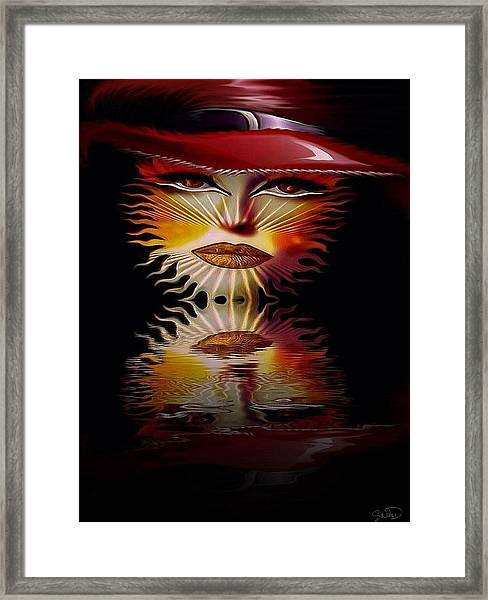 The Wizard Lady Of The Sun Framed Print