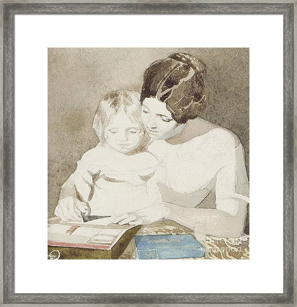 The Writing Lesson Framed Print