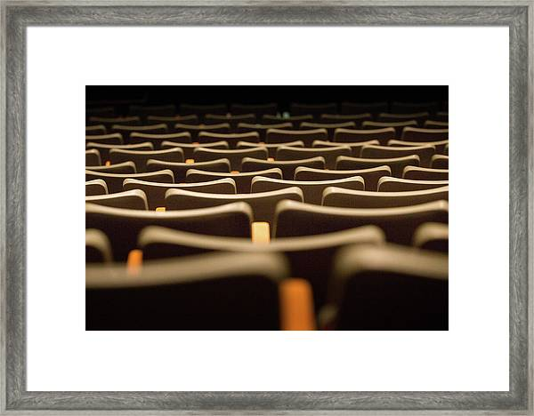 Framed Print featuring the photograph Theater Seats by Juan Contreras