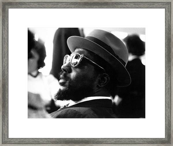Thelonious Monk At The United Nations Framed Print