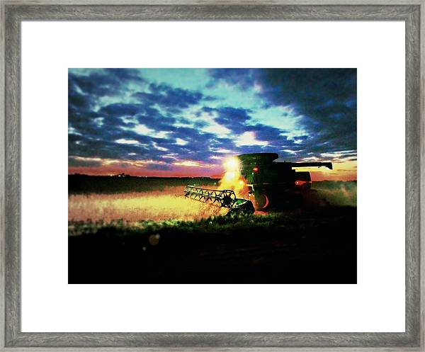 There Goes The Beans Framed Print
