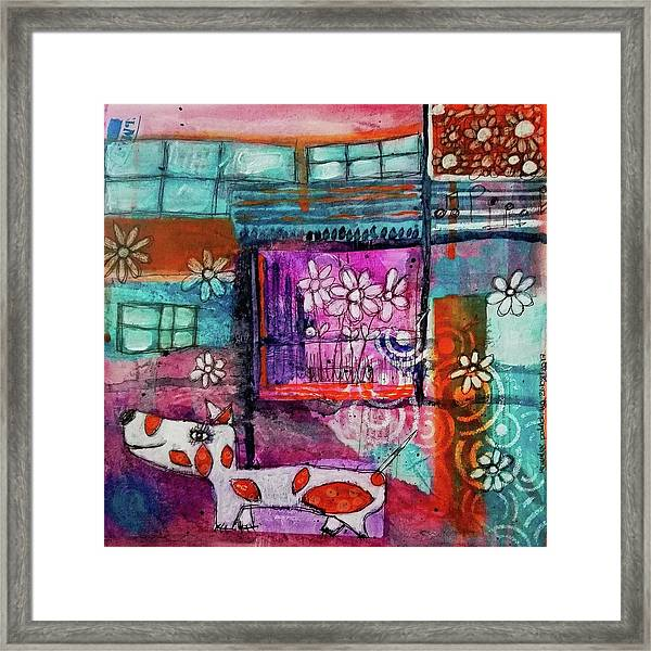 Thinking Happy Thoughts Framed Print