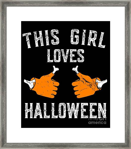This Girl Loves Halloween Framed Print