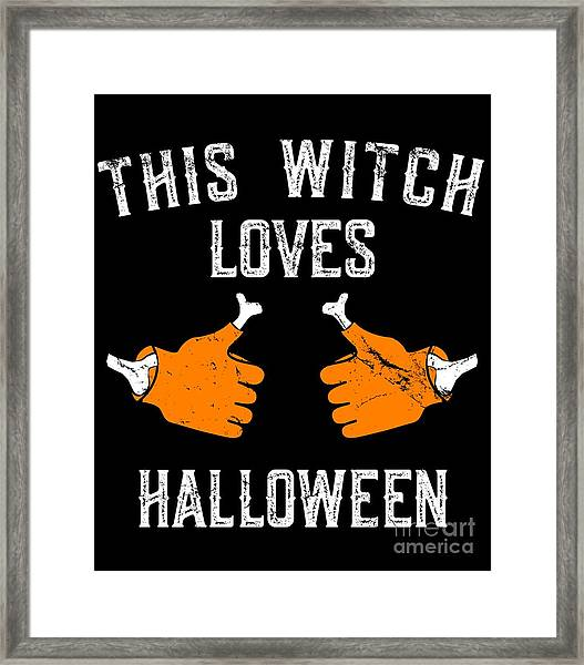 This Witch Loves Halloween Framed Print