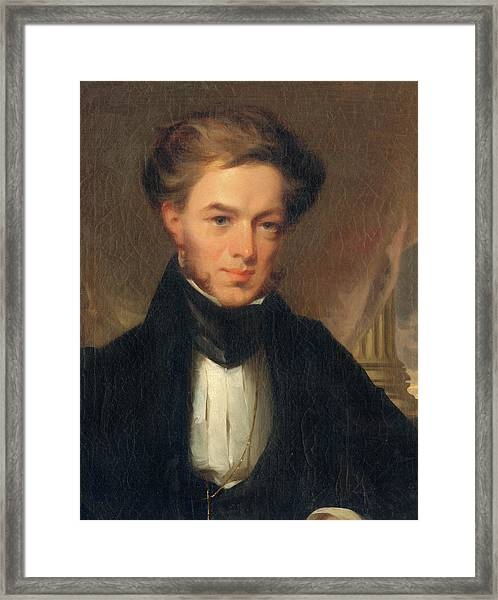 Portrait Of Thomas Ustick Walter, 1835 Framed Print