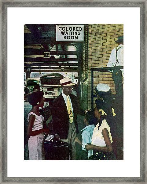 Thornton & Family At Bus Station Framed Print
