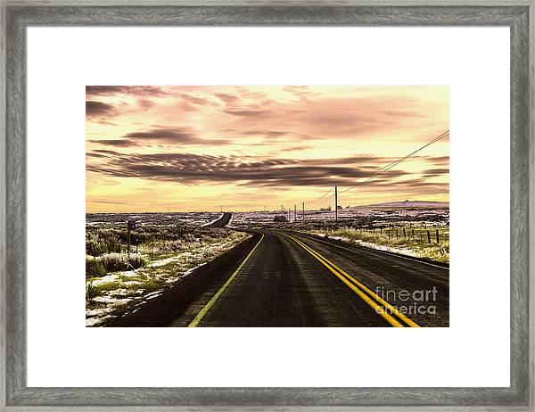 Those Long Winding Roads  Framed Print