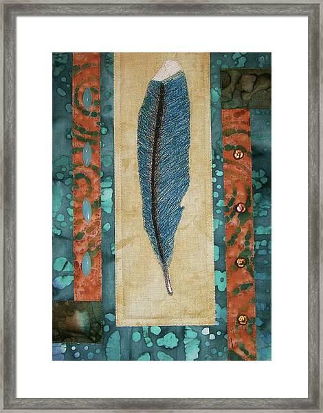 Threaded Feather Framed Print