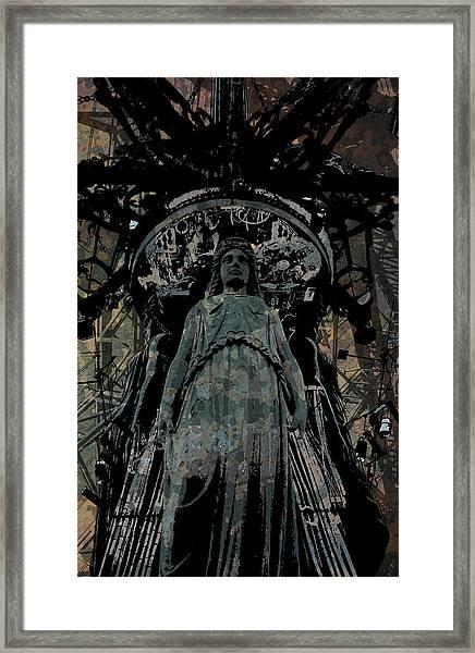 Three Caryatids Framed Print
