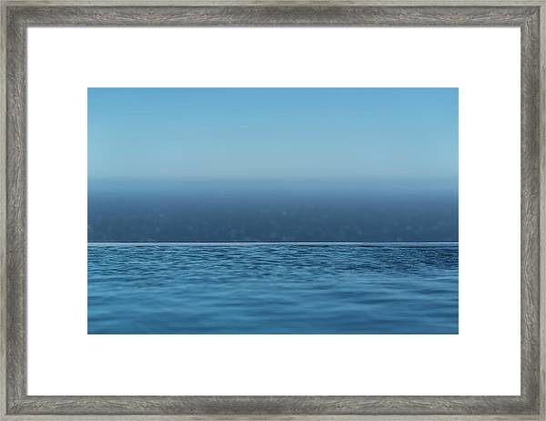 Three Layers Of Blue Framed Print