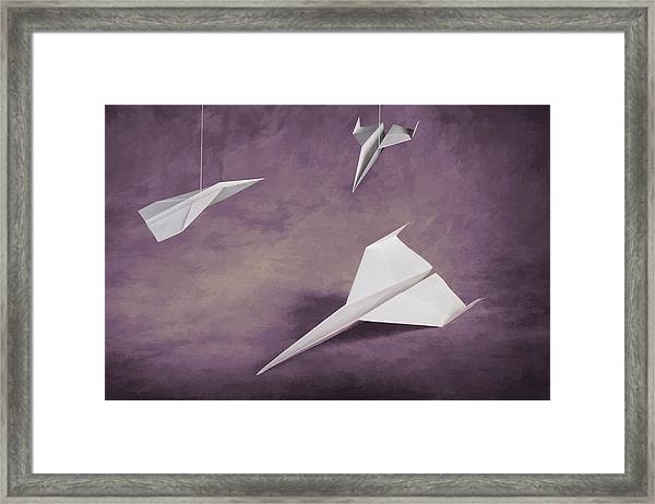 Three Paper Airplanes Framed Print