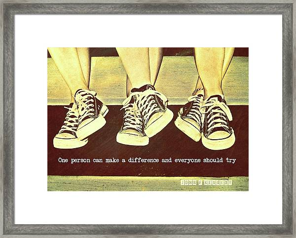 Three Stooges Quote Framed Print