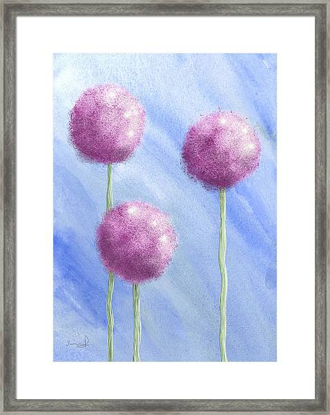 Three's A Charm Framed Print