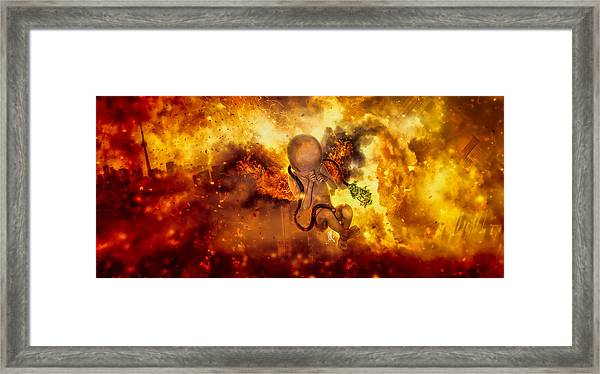 Through Ashes Rise II Framed Print