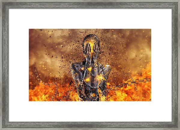 Through Ashes Rise Framed Print