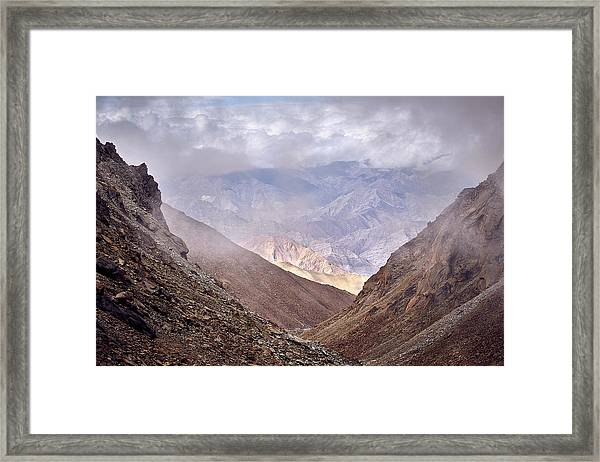 Framed Print featuring the photograph Through The Valley by Whitney Goodey