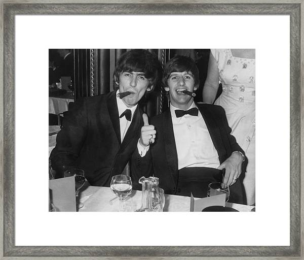 Thumbs Up From Ringo Framed Print