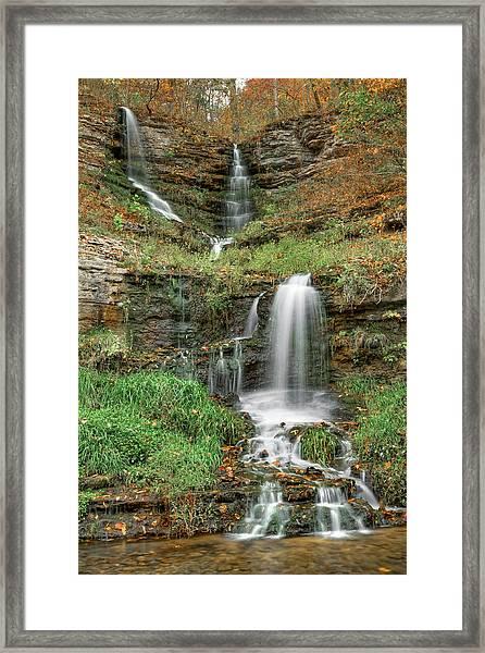Thunder Falls - Dogwood Canyon Nature Park - Missouri Framed Print
