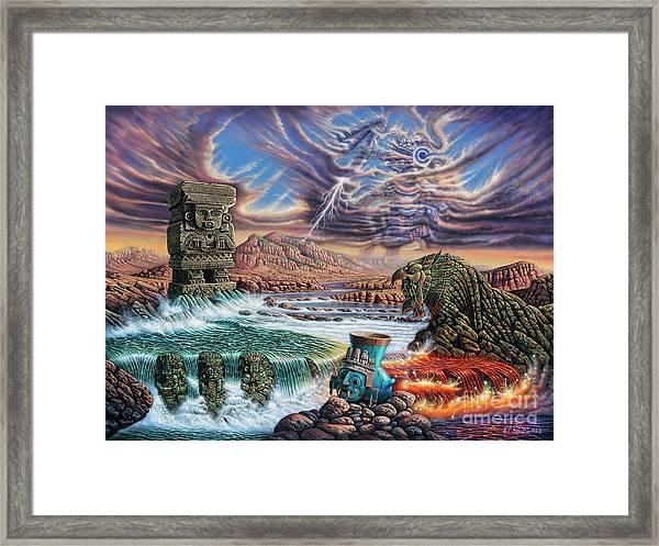 Thundering Gods Framed Print