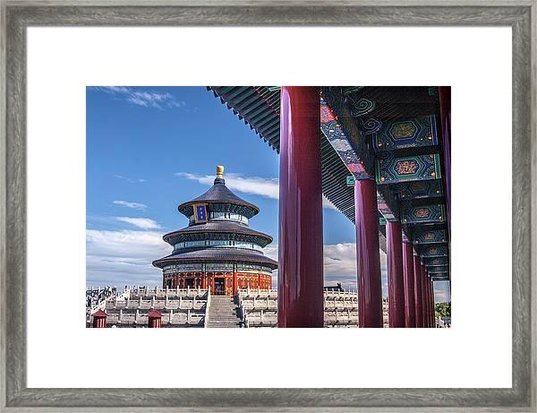 Tiantantemple Of Heaven Framed Print