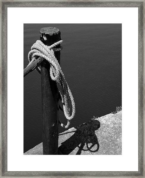 Tied, Rope Framed Print