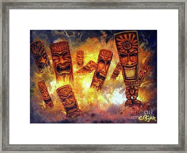 Tiki Hot Spot Framed Print