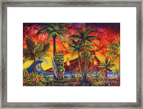 Tiki Surf A Lot Framed Print