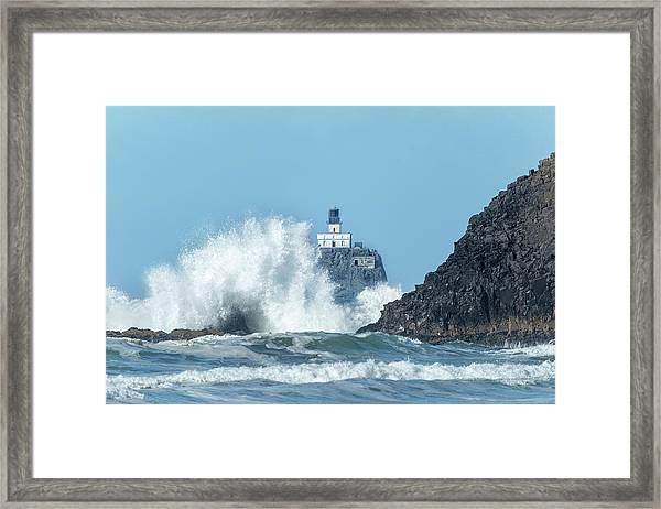 Tillamook Rock Light House, Oregon - Terrible Tilly Framed Print