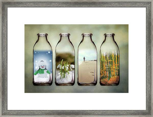 Time In A Bottle - The Four Seasons Framed Print