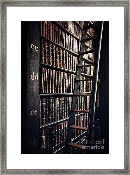 Time Is A Book Framed Print