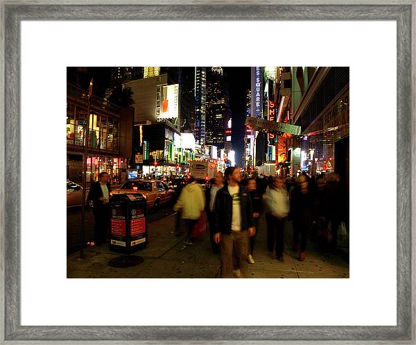 Time Square, Two Framed Print