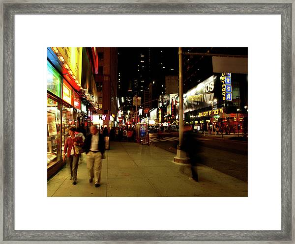 Time Square, One Framed Print