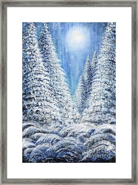 Tim's Winter Forest 2 Framed Print