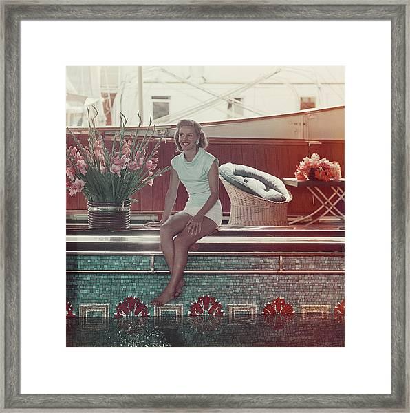 Tina Onassis Framed Print by Slim Aarons