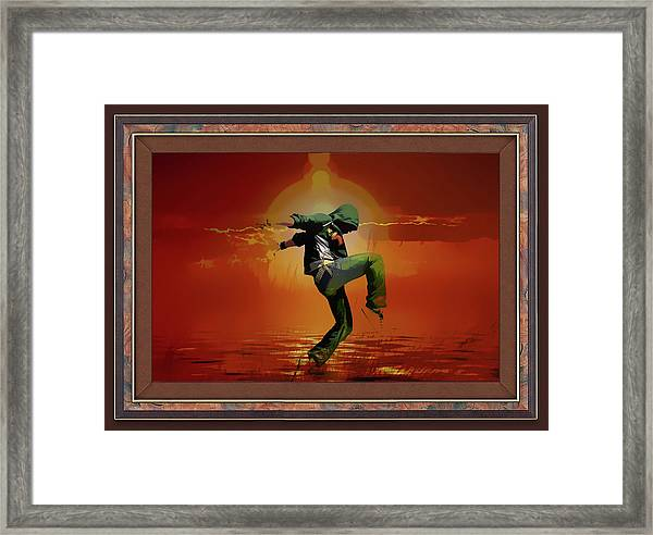 Tip Toe Dancer Framed Print