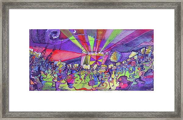 Arise Fest 2019 Live Painting While Tipper And Clozee Played. Framed Print