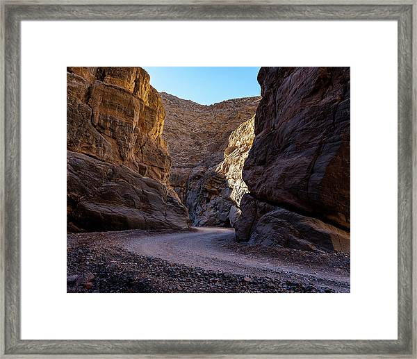 Framed Print featuring the photograph Titus Canyon I by William Dickman