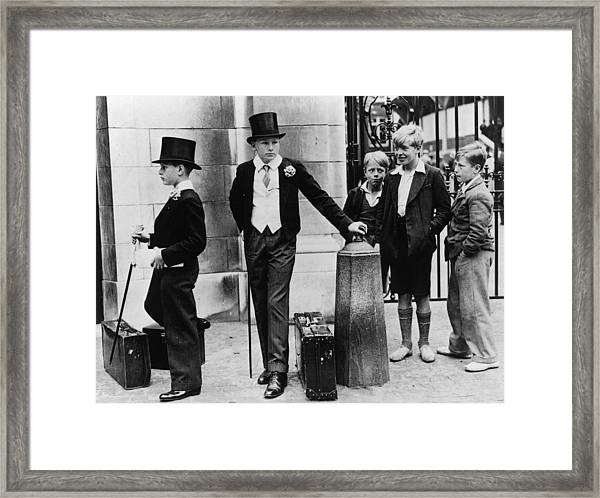 Toffs And Toughs Framed Print