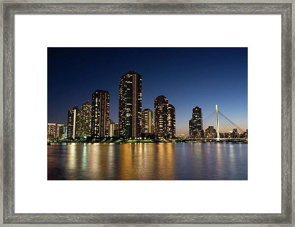 Tokyo Night View Framed Print