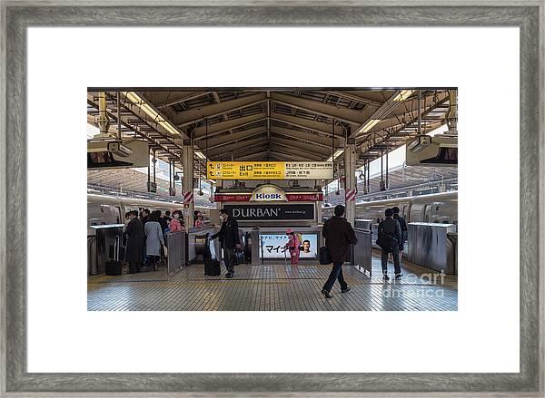 Tokyo To Kyoto Bullet Train, Japan 2 Framed Print