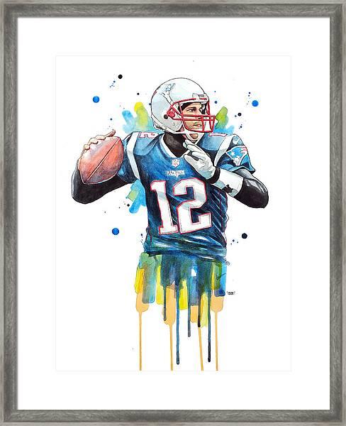 Tom Brady, Patriots, Nfl Framed Print