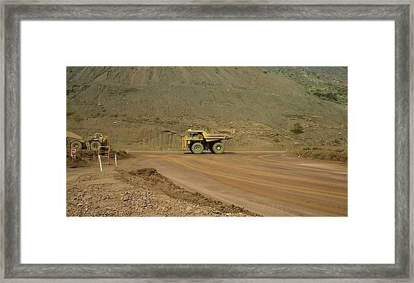 Tom Price Earthmover Framed Print