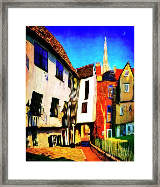 Tombeland Alley Framed Print