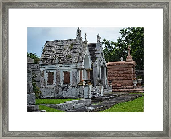 Tombs And Graves Framed Print