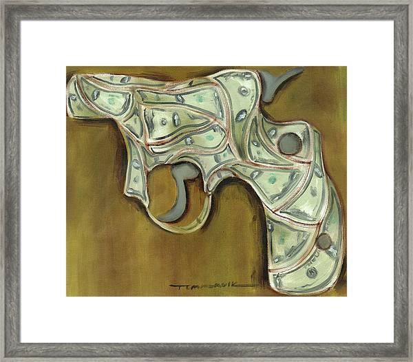 Tommervik Cash Gun Art Print Framed Print