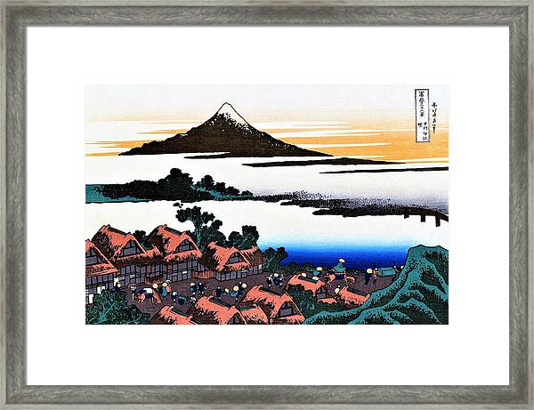 Top Quality Art - Mt Fuji36view-koshu Isawa Sunset Framed Print