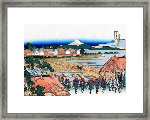 Top Quality Art - Mt,fuji36view-senju Fuji View Framed Print