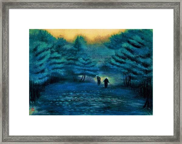 Top Quality Art - Treading Barley Framed Print