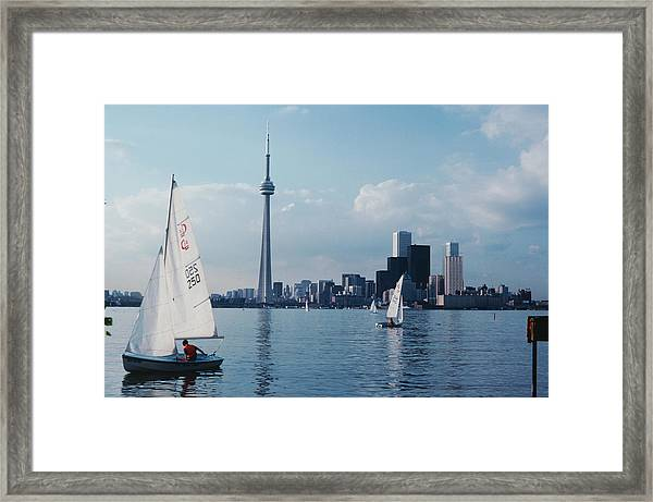 Toronto Yachting Framed Print