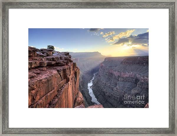 Toroweap Overlook On The North Rim Of Framed Print